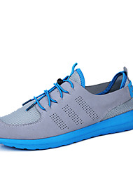Men's Running Shoes Faux Leather Black/Blue/White
