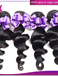 malaio 3pcs tecer cabelo / cabelo emaranhado atacado onda solta livre muito cabelo humano trama não transformados humano