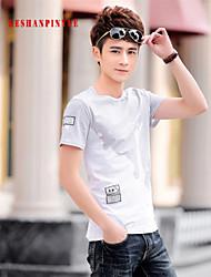 2015 T Shirts Men Short Sleeve Sport Man T-Shirt O Neck Size M-4XL