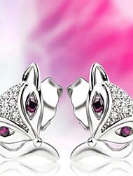 925 boucles d'oreilles en argent avec Fox séduisante micro mode boucles d'oreilles de tempérament