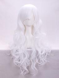 cheveux bouclés mode fleeciness une perruque blanche Anime Cosplay mode euroaméricains perruque