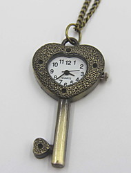 Exquisite Key Shaped Pocket Watch Sweater Necklace