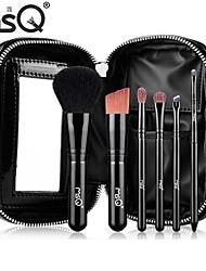 brosse msq® 6pcs PU sac à glissière poils d'animaux de maquillage définit modèles portables + stba06b