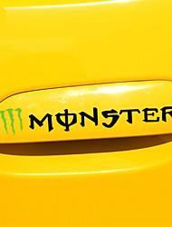 poignée de voiture sticker autocollant de voiture monstre carrosserie de la voiture de la décoration
