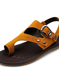 Men's Shoes Casual Leather Sandals Yellow/Khaki