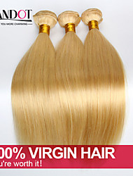 TOP 7A Bleach Blonde 613 Virgin Hair Extension Peruvian Vingin Hair Straight Peruvian Human Hair Weave Bundles Hair