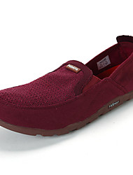 Men's Shoes Casual Fabric Loafers Blue / Burgundy