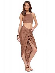 Robes ( Coton ) Sexy/Soirée Rond à Sans manche pour Femme