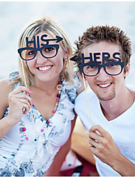 His And Hers Photography Photo Props- Set of 1 Pair