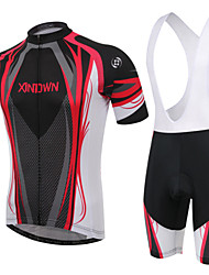 XINTOWN Cycling Jersey with Bib Shorts Women's Men's Unisex Short Sleeve Bike Breathable Wearable 3D Pad Back PocketPadded Shorts/Chamois
