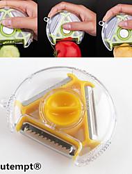 1шт 3in1 резак многофункциональный поворотный новинка растительное фрукты картофелечистку резки измельчитель (случайный цвет)