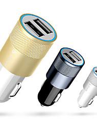 metal plus single-usb 1a / 2.1a uitgang trompetvorm sigarettenaansteker in de auto oplader