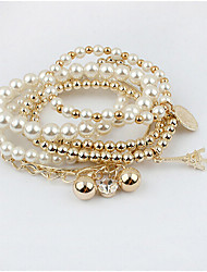 Masoo Women's Fashion Hot Selling High Quality Tower Multi-layer Pearl Bracelet