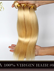 "3Pcs Lot 14""-30"" Platinum Bleach Blonde Eurasian Virgin Hair Straight Color 613 Remy Human Hair Extensions Weave Bundles"