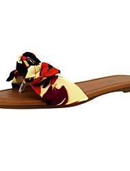 tessuto scarpe tacco piatto di vibrazione delle donne di cadute di sandali casuali più colori disponibili