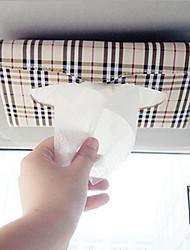 voiture pare-soleil boîte de tissu accessoires automobiles titulaire serviette en papier presse-papiers étui en cuir PU