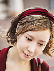 Pure Color Satin Cross Hair Band Temperament Wide-Brimmed Hairdo Hoop