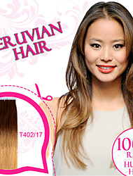 Tape in Hair/ Skin Weft/ PU Weft Ombre Color 100% Peruvian Remy Human Hair Ty.Hermenlisa