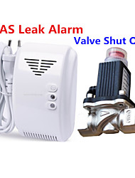 LPG Natural Gas Leak Detector Alarm With DN15 Electromagnetic Solenoid Valve Auto Shut Off