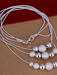 Lawei Women's Korean-style High Quality Simple Cute Silver-plated Necklace