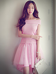 Pink Doll®Women's Casual/Mesh Asymmetrical Trumpet/Mermaid Skirt