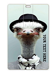 Personalized USB Flash Drive Ostrich Design 8GB Card USB Flash Drive