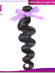 Indian virgin hair body wave 1pcs/lot Indian body wave 100% unprocessed virgin human hair weaves