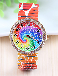 Xu™ Women's Fashion Design Restoring Ancient Ways Stretch 7 Colour Diamonds Quartz Watch Cool Watches Unique Watches