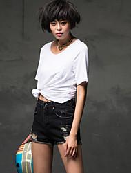 Women's Thin Bead Loose Hole Jeans