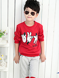 Boy's Fashion Leisure Cartoon Short Sleeve 2 Pieces