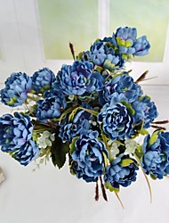 Modern 6 Colors 7 Heads Artificial Silk Small Peony Bouquet 2 Bouquets/Lot for Home and Party Decoration