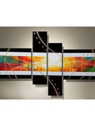 Ölgemälde Satz von 4 modernen abstrakten, Canvas-Material mit gestreckten Rahmen bereit, hängen Größe: 50 * 70cm * 2pcs 25 * 70cm * 2