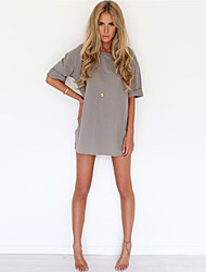 Women's Sexy Casual Loose Chiffon Mini Dress