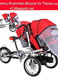 "Whole Set Pushchair-Bicycle for Twins +2mosquite net Ruituo™ Convertible Stroller 3 in 1 Mother & Baby 3 Wheels 16""Bike"