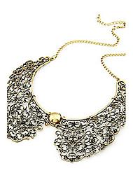 bronze do estilo do vintage flor de metal oco forma colar gargantilha colar