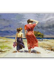 pinturas al óleo de la gente moderna, material de la lona con el marco estirado listo para colgar tamaño: 60 * 90cm.