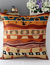 Africa Style Human Culture Cotton/Linen Decorative Pillow Cover