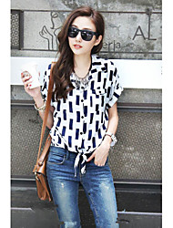 summer style new arrive print loose cotton women Blouses