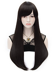 Black Hair End Adduction Long Straight Hair Wig Cos Anime Characters