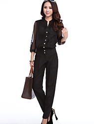 Women's Solid Black/Brown Shorts Pants , Casual Button