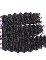 "3Pcs/Lot+10""-30""+Brazilian (Italian)Virgin Remy Human Hair+ color(natural color)+ Deep wave"