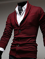 Men's Casual/Daily Cardigan,Solid Long Sleeve Others