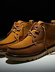 Men's Shoes Casual Leather Boots Brown/Gray