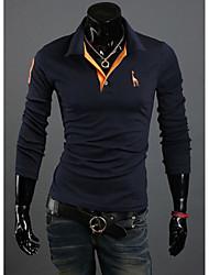 Young Men's Casual Shirt Collar Long Sleeve T-Shirts