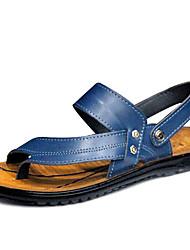 Zapatos de Hombre Casual Semicuero Sandalias Negro/Azul/Amarillo