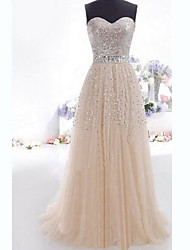 Women's Party Off-the-shoulder Sleeveless Dresses (Chiffon/Sequin)