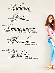 Wall Stickers Wall Decals , Zuhause German Words & Quotes Kitchen Stickers