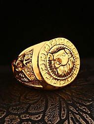 Men's Creative Lion Shape Hip-Hop High Polishing Ring