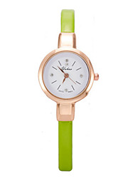 Mulheres Relógio de Moda Quartz Couro Banda Preta / Branco / Azul / Vermelho / Marrom / Verde / Rosa / Roxa marca-