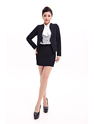 Restaurant Service Black Long Sleeves Female Career Costumes